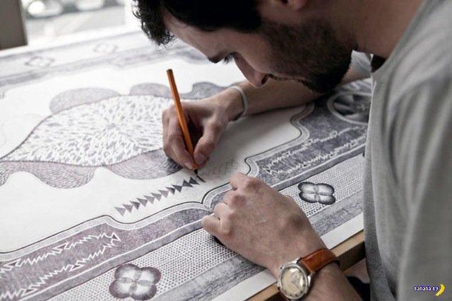 Рисовать ковры шариковой ручкой
