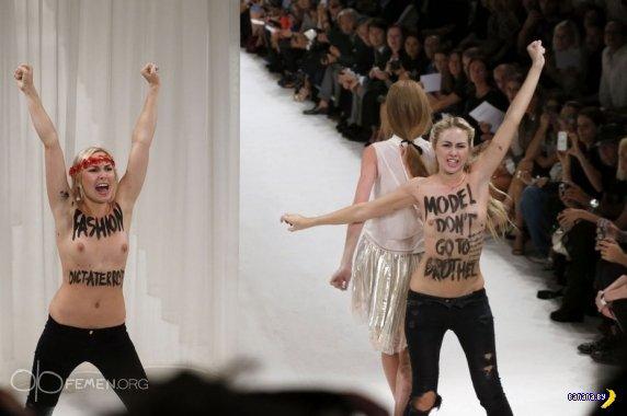 FEMEN срывают показ на Парижской Неделе Моды