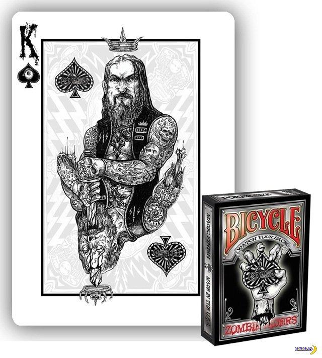 Игральные карты с зомби-байкерами