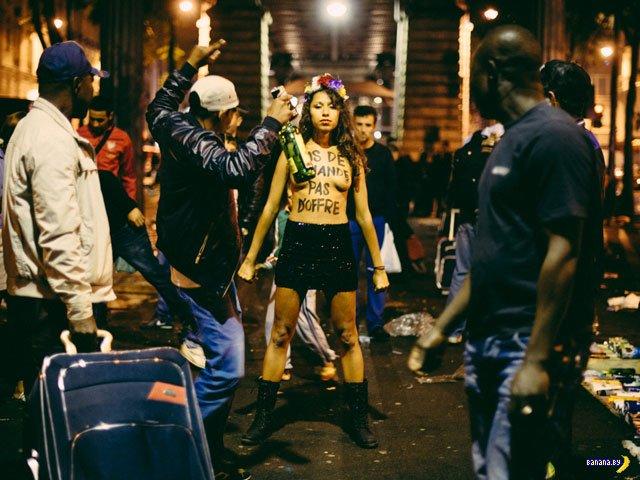 FEMEN борется с проституцией в Париже