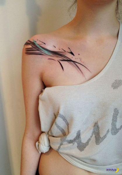 Девушка, а у вас татуировка потекла!