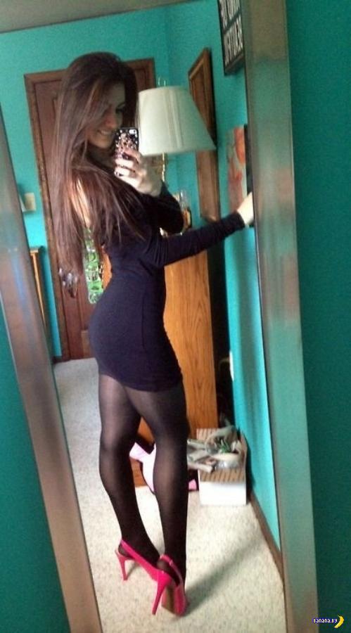 Красивые девушки в обтягивающих платьях - 5