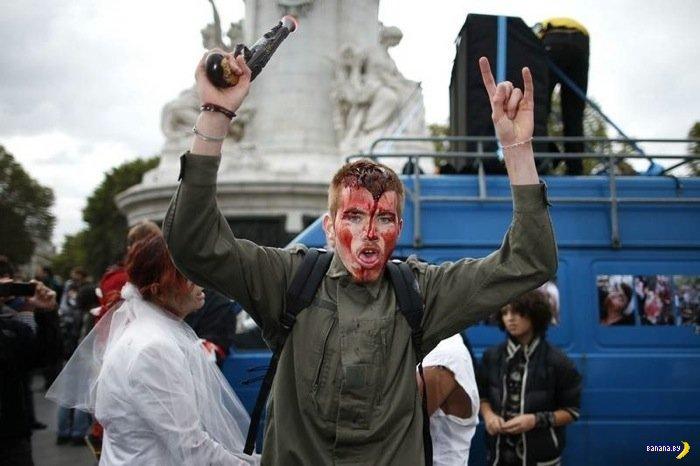 Зомби-парад в Париже