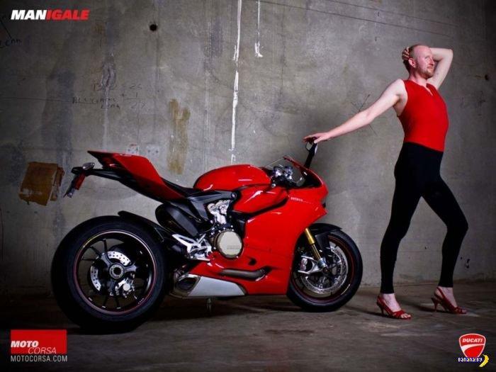 Отчаянная реклама Ducati