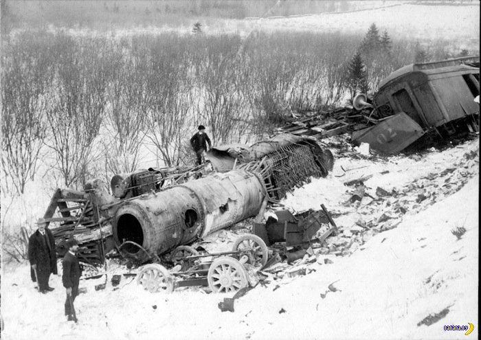 Редкие фотографии аварий на железных дорогах XIX века