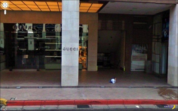 20 жутких фотографий с Google Street View