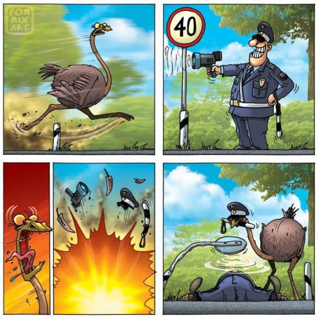 Комиксы про страуса