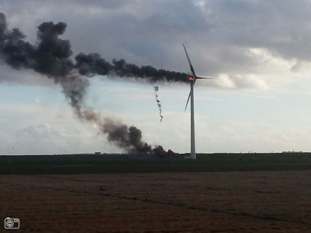 Жуткое происшествие на ветряке