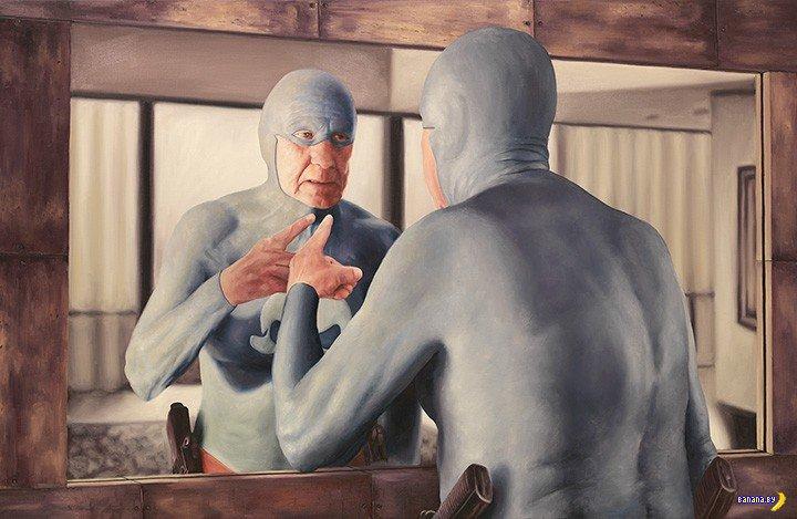 Пожилой супергерой – картины маслом