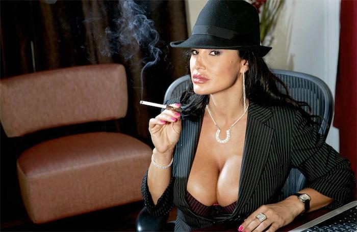 Big-tit tanned brunette Monica Mendez is smoking a cigarette № 602591 загрузить