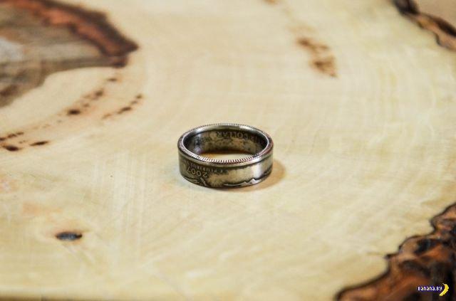 Шикарное кольцо своими руками из монеты
