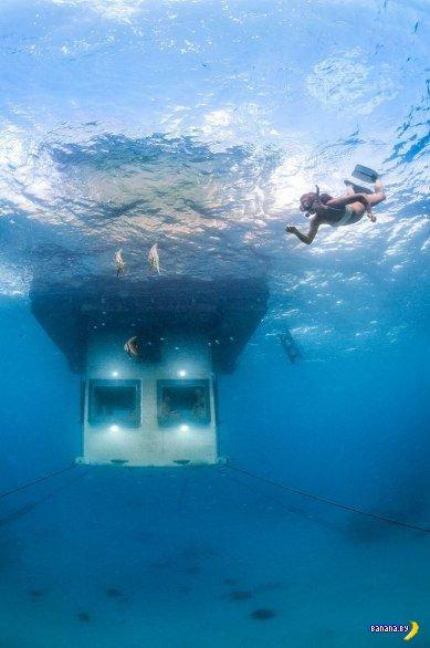Здоровый сон под водой
