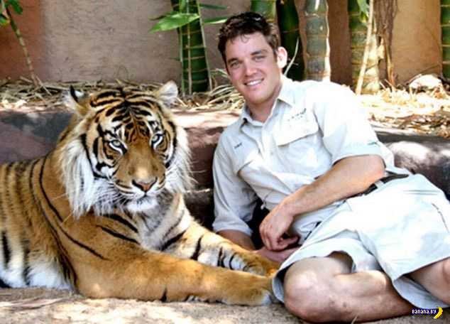 Тигр разорвал шею дрессировщика на глазах у 50 посетителей