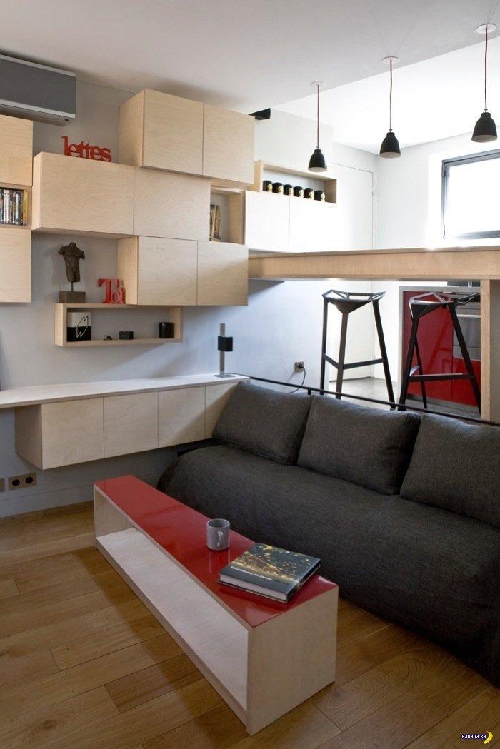 Дизайн студии 12 кв м