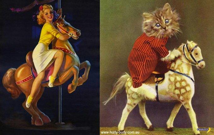 Пин-ап коты
