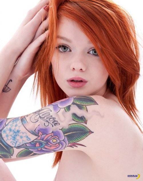 tattooed ginger stripper is taking part in threesome  179008