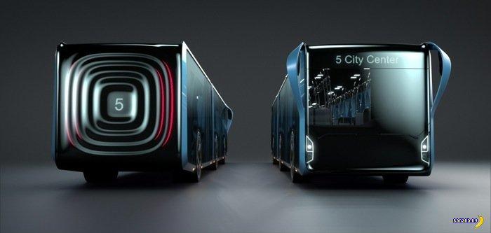 Концепт городского автобуса с LCD-панелями