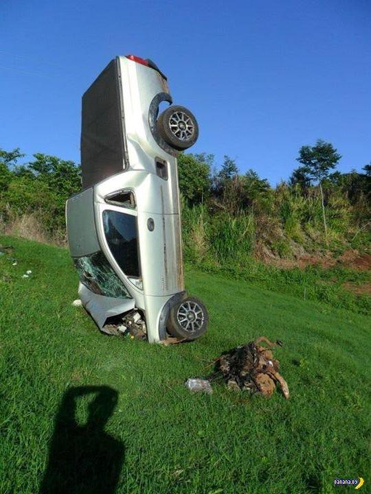 Забавная авария в Бразилии