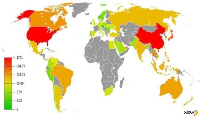 Интересные карты мира