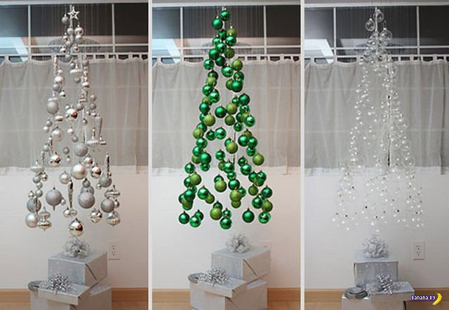 Оригинальные новогодние ёлки своими руками