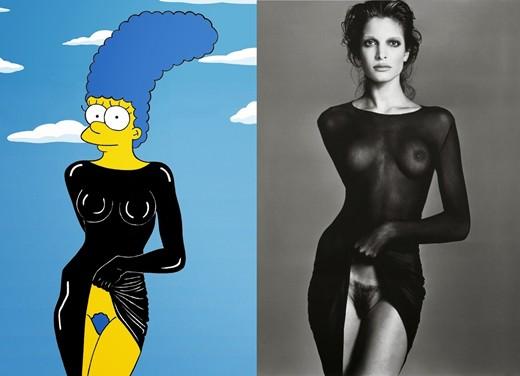 Мардж Симпсон на культовых фотографиях