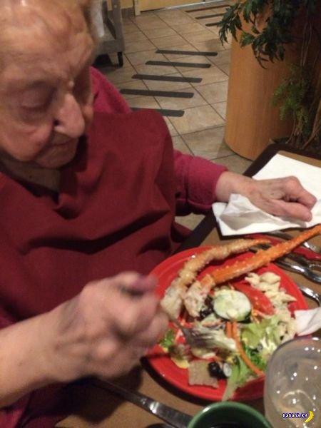 103-летняя бабуля отожгла на свой день рождения