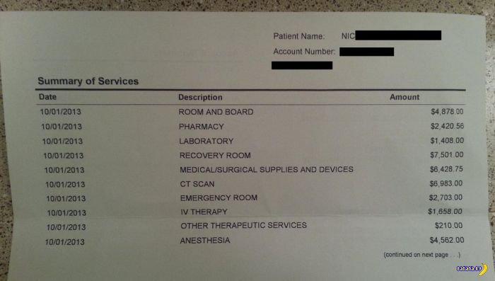 Сколько стоит вырезать аппендицит в США?