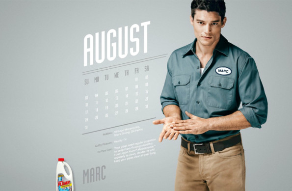 Вышел календарь с сексуальными сантехниками