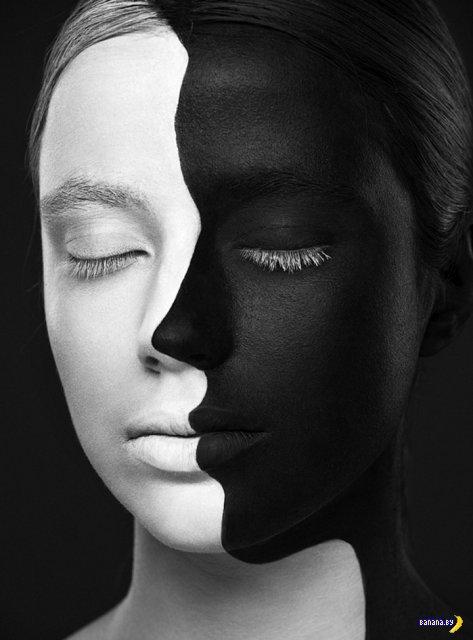 Чёрно-белый Face Art