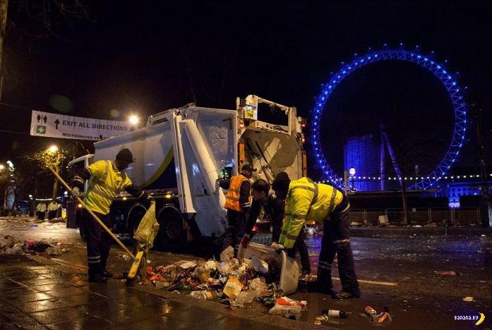 Британия отгуляла Новый Год...