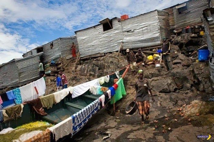 Рыбацкая община на острове Мигинго