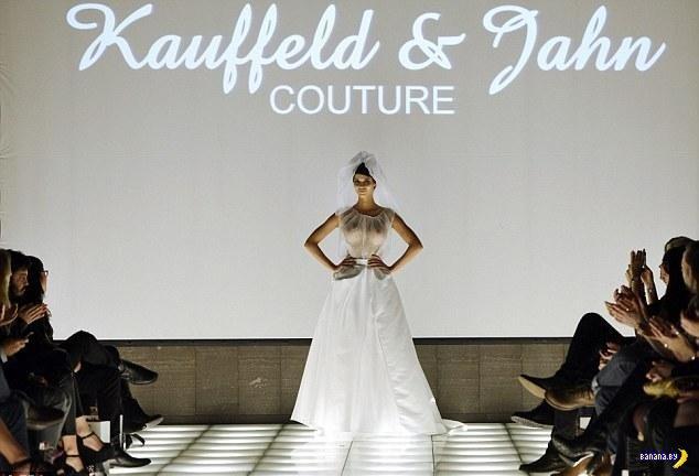 Микаэла Шефер и свадебное платье