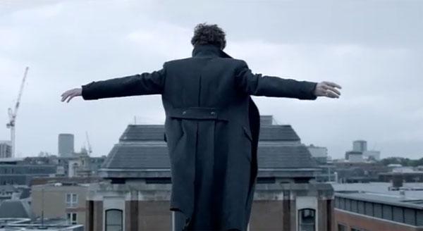 Фотожаба: падение Шерлока с крыши