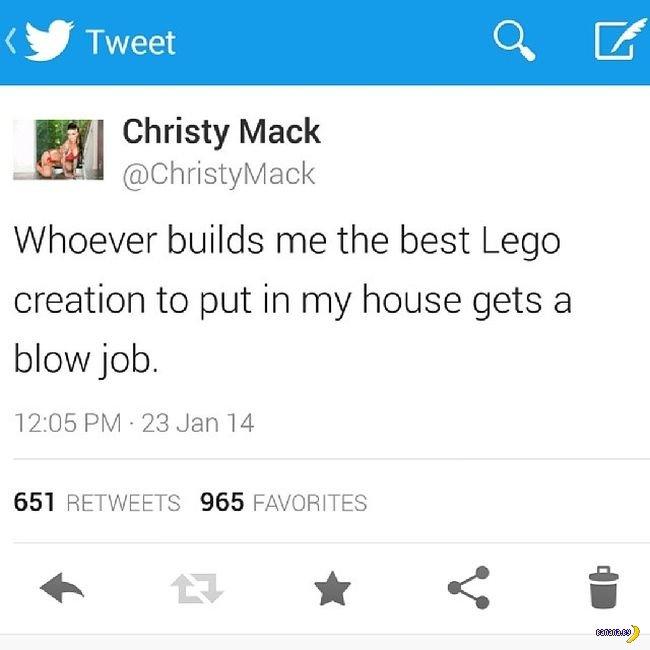 Порнозвезда отсосёт за LEGO!
