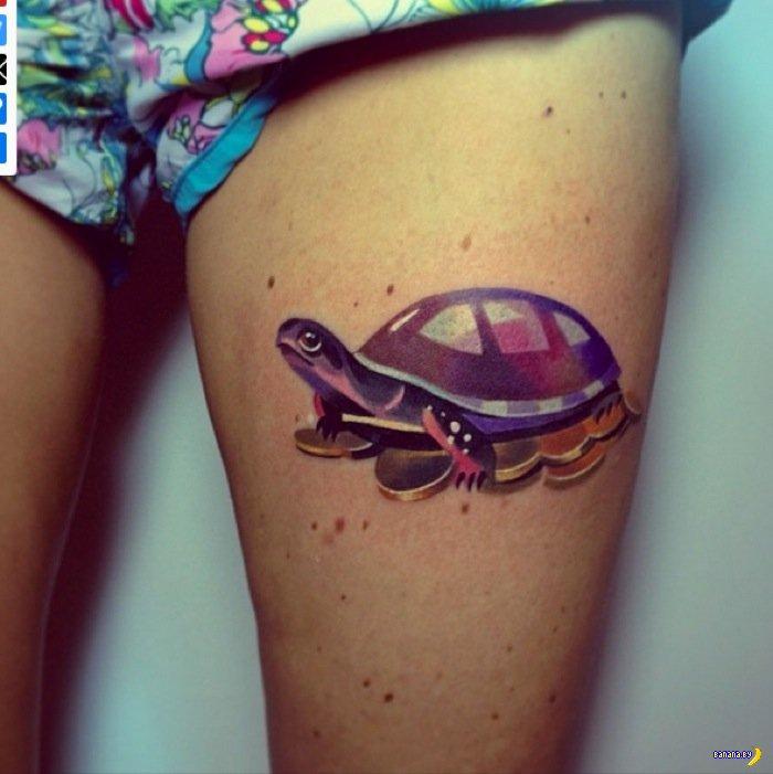 Уникальные татуировки с животными
