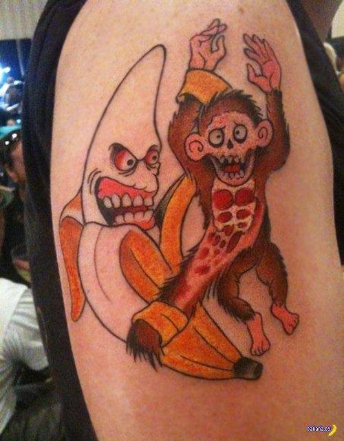Татуировки с бананами