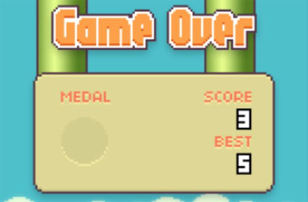 Конец Flappy Bird