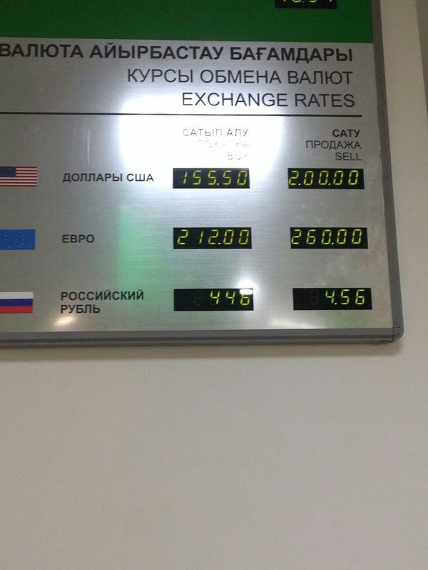 Казахстан девальвировался