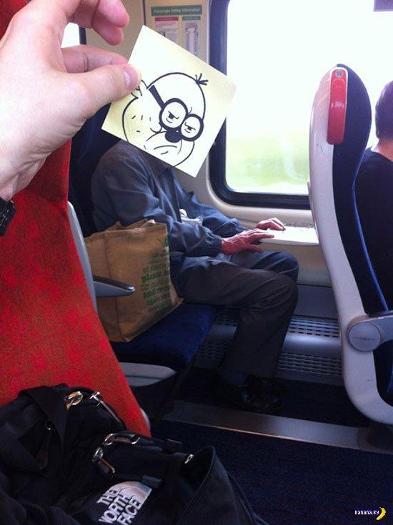 Чем заняться художнику в транспорте?