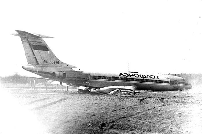 Лимонадная посадка ТУ-134