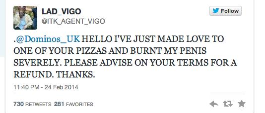 Мужчина обжегся во время секса с пиццей и начал скандал