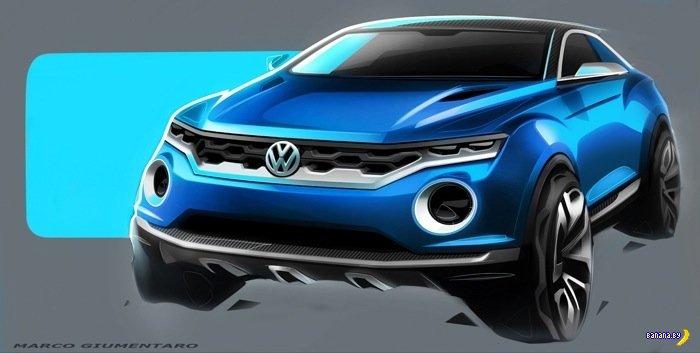 Volkswagen нарисовал свой новый кроссовер