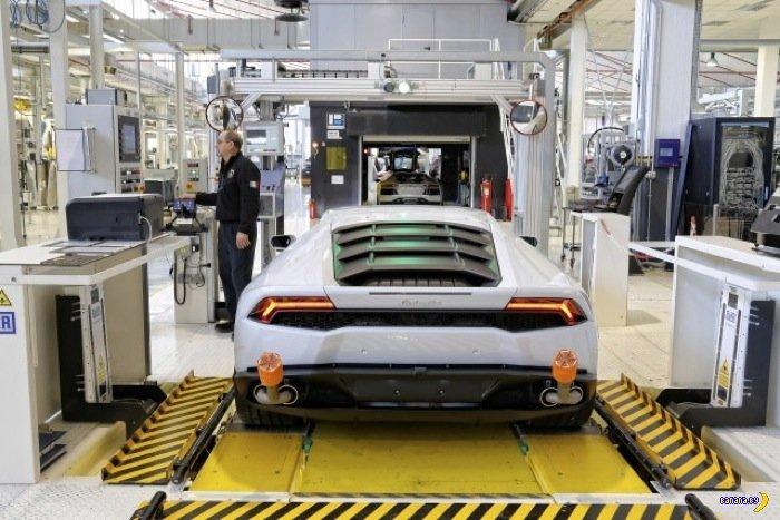 Сборочный конвейер Lamborghini