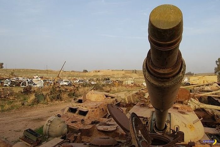 Кладбище военной техники в Кувейте