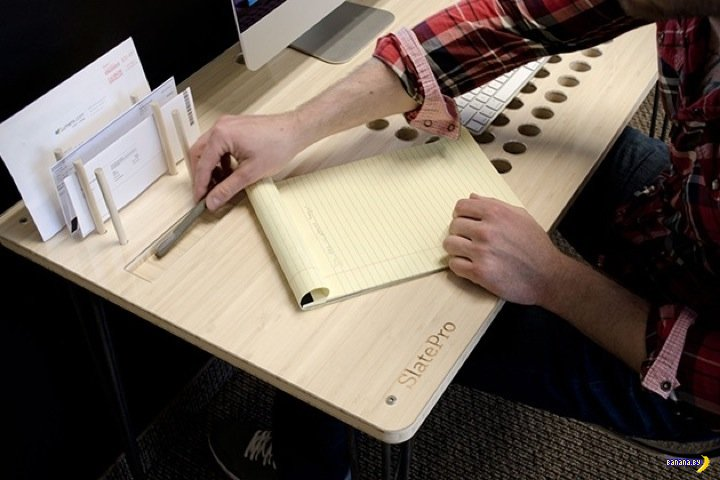Рабочий стол с дырками