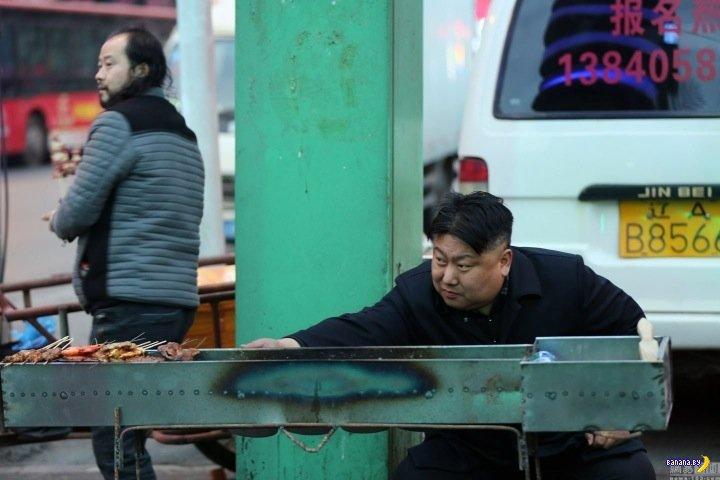 Ким Чен Ын продает на улице шашлычки?