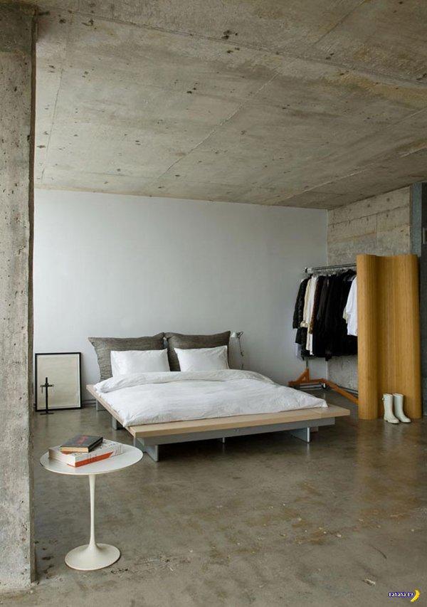 Крутые спальни в индустриальном стиле