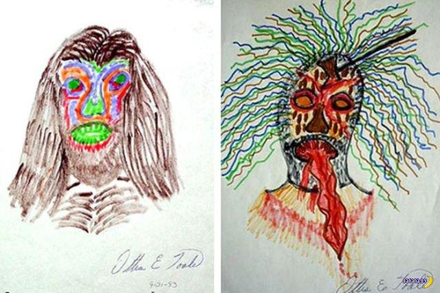 Рисунки маньяков-убийц