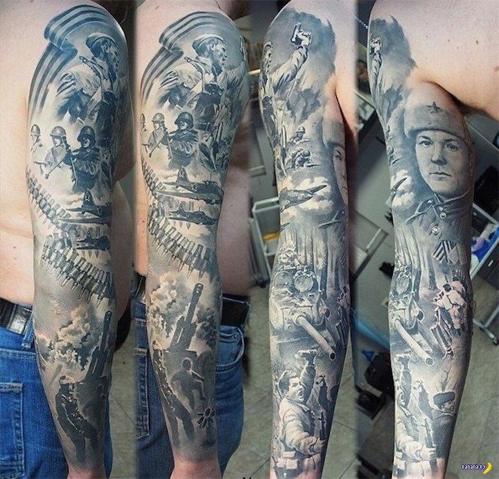 Патриотичная татуировка удивила Интернет