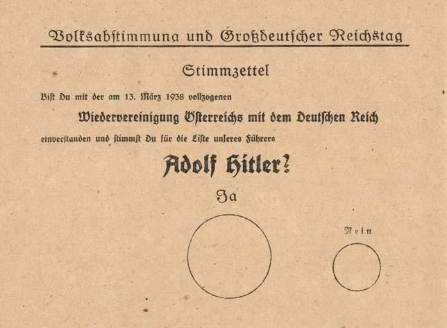 Как Германия референдумом вернула Австрию
